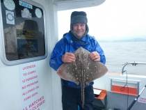 Andy Smith with a ray
