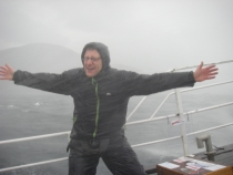 mark smith enjoying the wind and rain