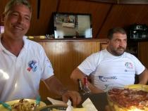 Lunch break on our boat