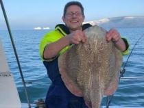 Mark Smith Boat Caught Undulate Ray 17lb 4oz