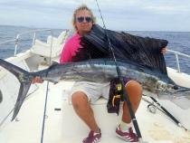 Neil Cottington Atlantic Sailfish 77lb 0oz
