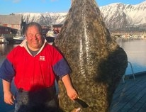 Colin Searles Atlantic Halibut 341lb 11oz 2017
